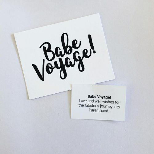 Babe Voyage pregnancy new parent greeting card