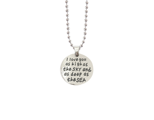 as high as the sky antique silver charm necklace pendant