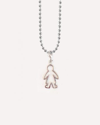 baby boy silver charm necklace