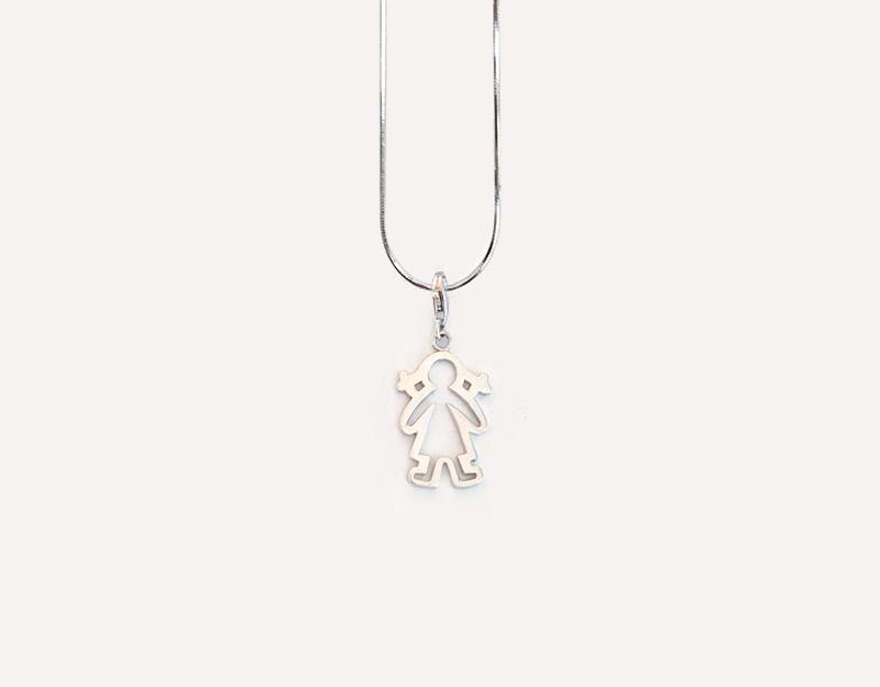 baby girl charm pendant