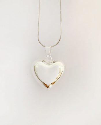 heart harmony ball pendant silver bola