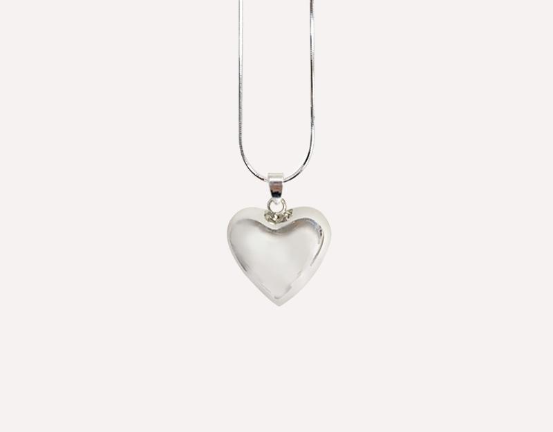 heart harmony ball silver pendant