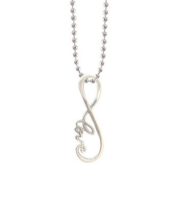 infinite love endless infinity charm pendant necklace antique silver