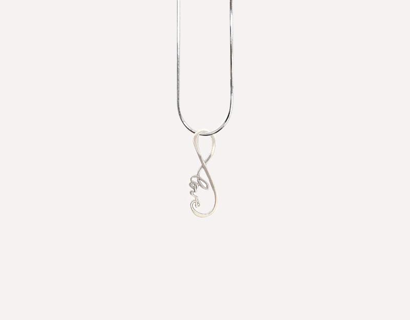 infinite love infinity charm pendant