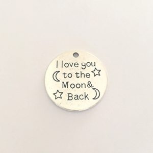 l love you to the moon and back charm necklace pregnancy
