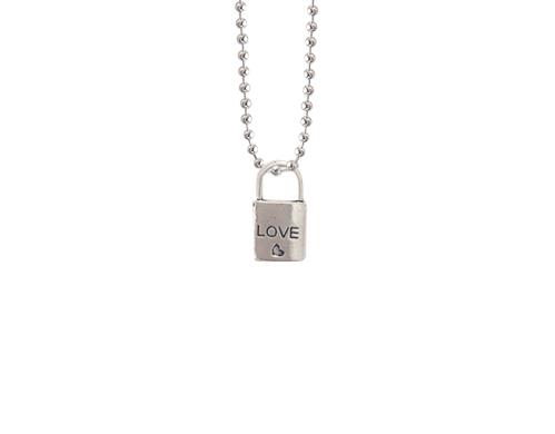 padlock charm lovely locket necklace
