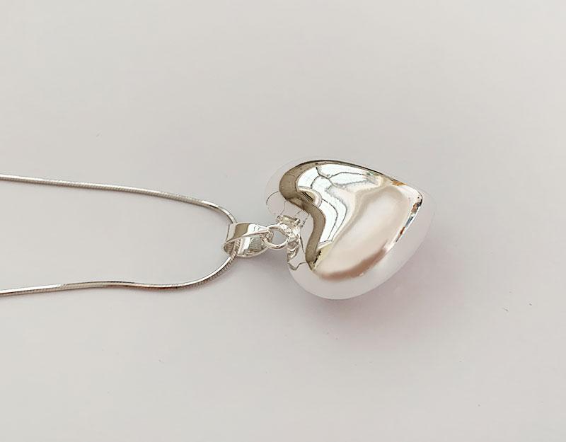 silver heart pendant harmony ball bola