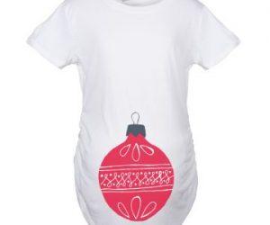 white christmas maternity pregnancy tshirt bump style