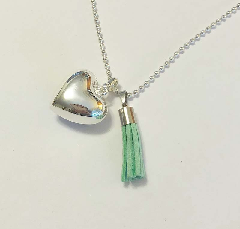 coloured tassel charm pendant for necklace