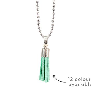 tassel charm pendant necklace pregnancy add colour