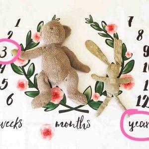 Newborn swaddle Baby milestone Blanket 1