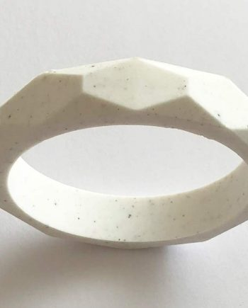 silicone teething bracelet melbourne white speckle