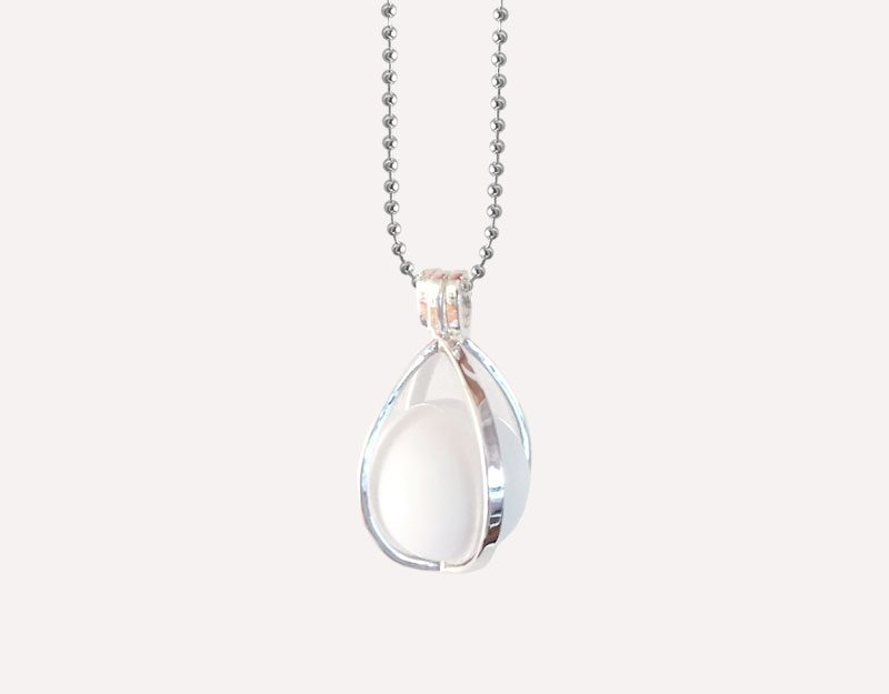 silver harmony ball locket cage droplet chime ball