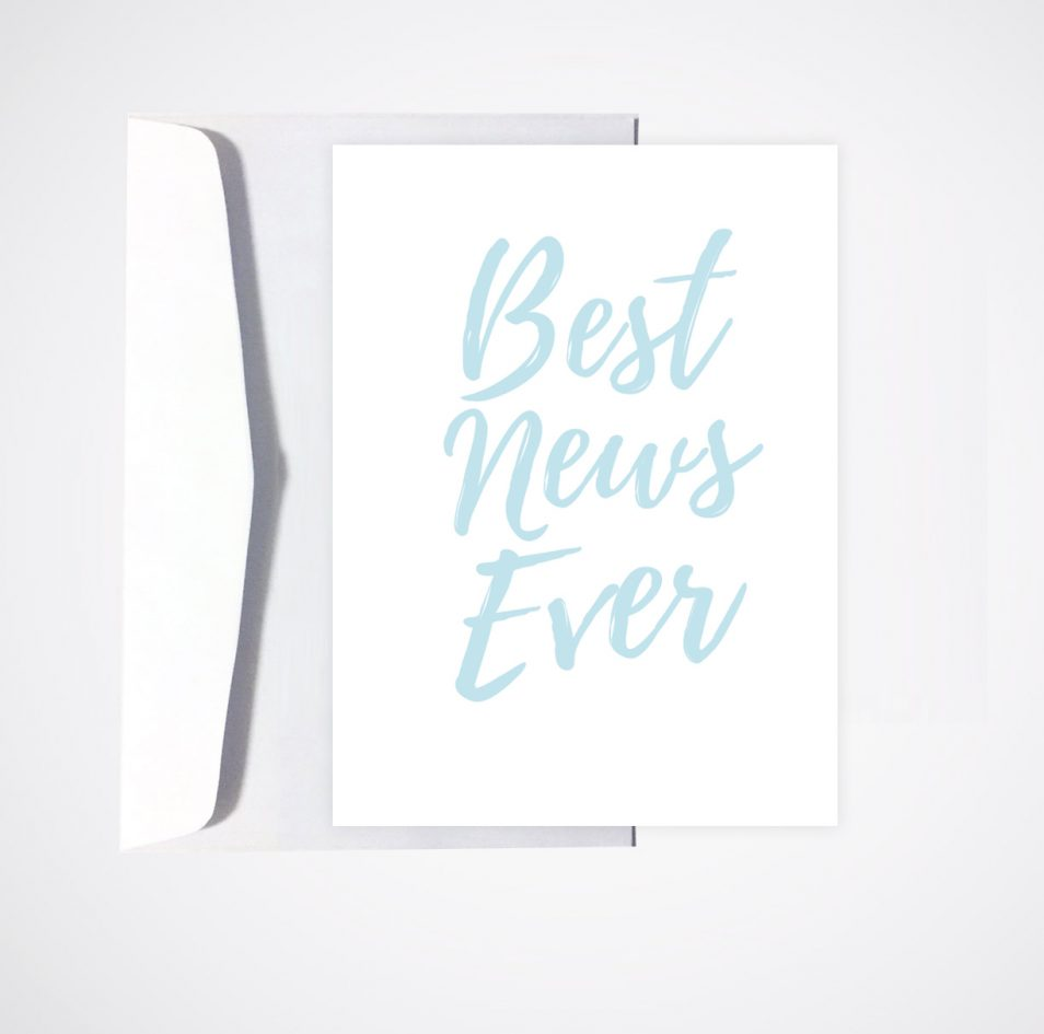 greeting card pregnant pregnancy newborn arrival best news ever