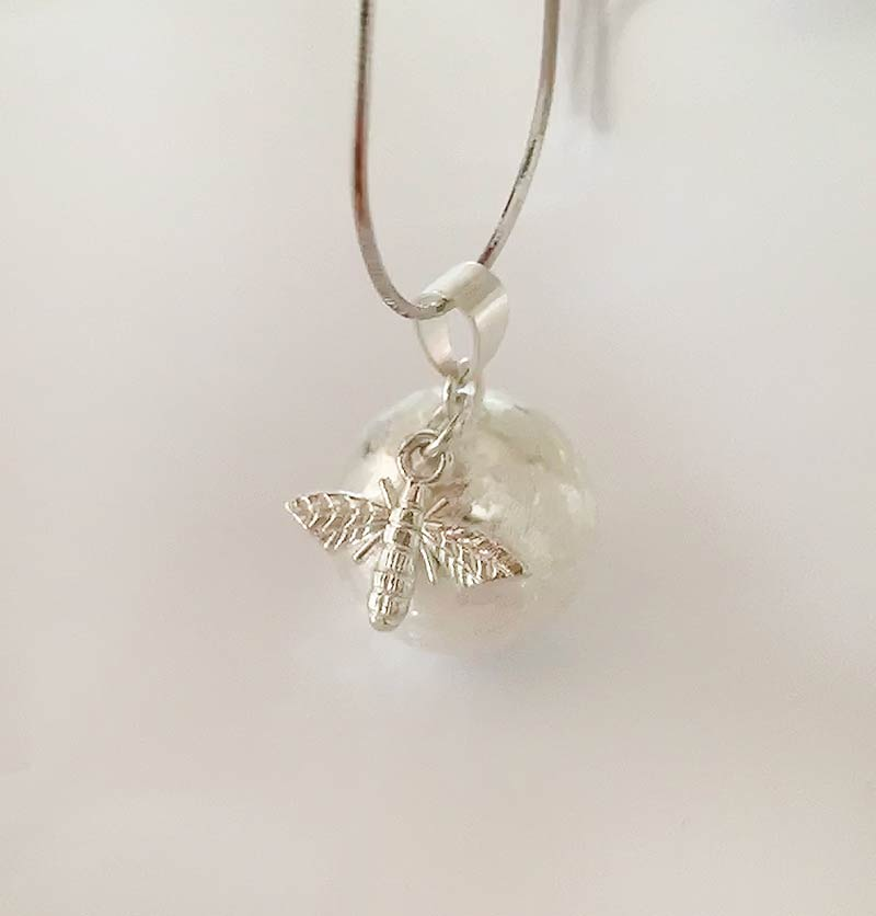 bee pregnancy angel caller necklace