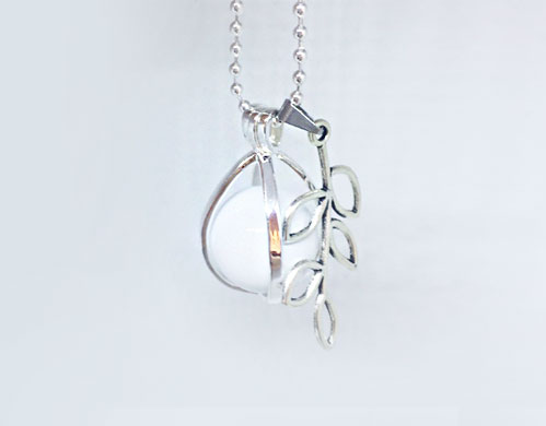 leaf charm new life growth pendant