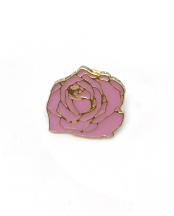 rose flower gold pin enamel