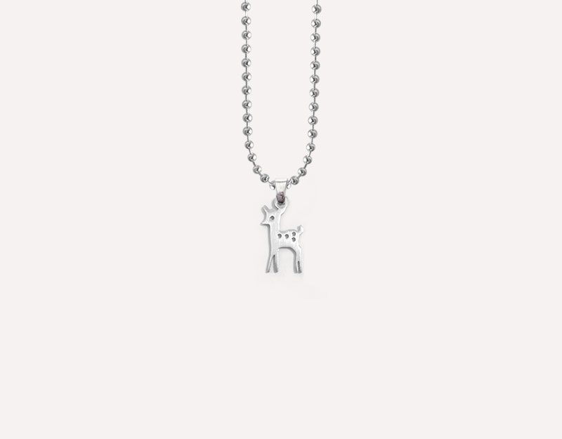 bambino stainless steel charm necklace 1