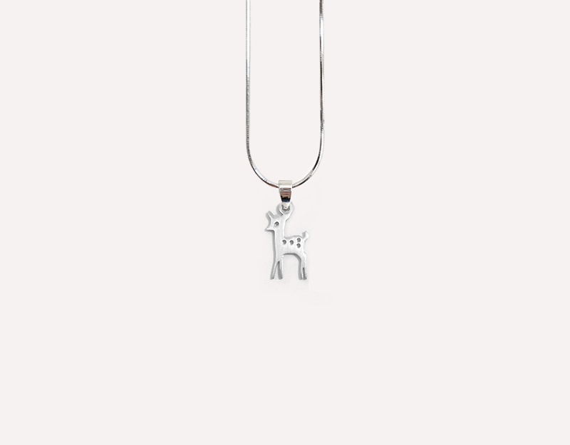bambino stainless steel charm necklace 2