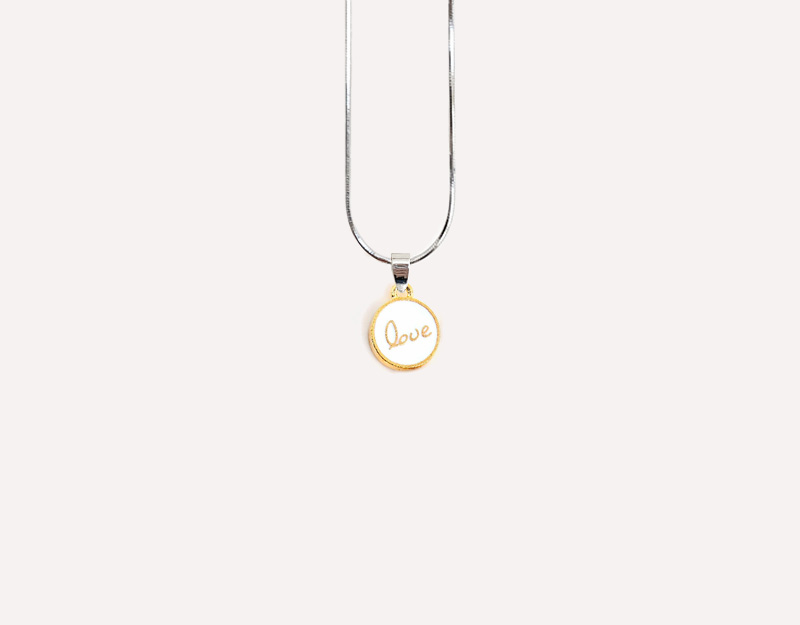 gold love small charm inspirational typography
