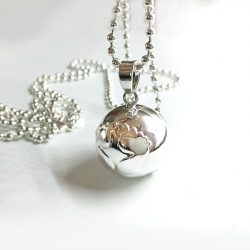 happy feet silver pregnancy bell necklace