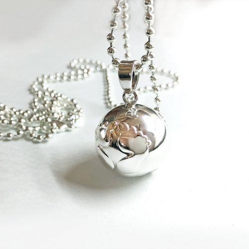 Harmony ball necklaces pregnancy gifts and modern keepsakes happy feet silver pregnancy bell necklace aloadofball Choice Image