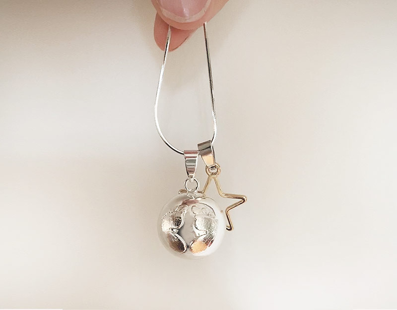newborn baby necklace expectant mother pendant 1