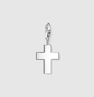 silver cross charm spiritual religious parent mother pregnant