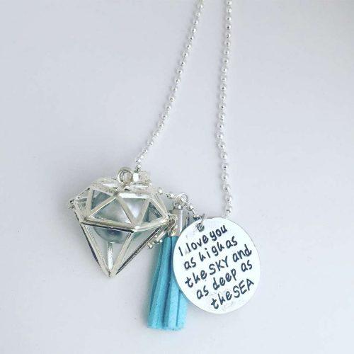 geometric necklace harmony ball pendant charm pregnant