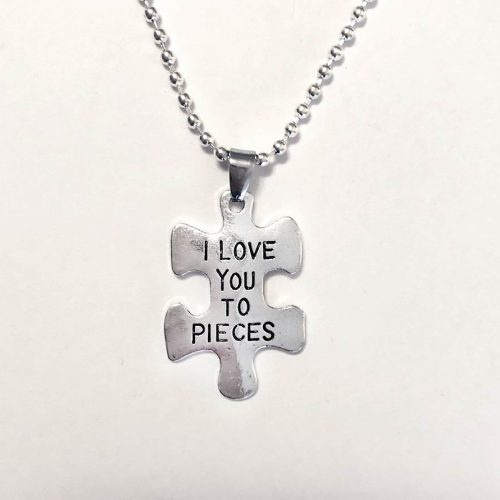 jigsaw love you to pieces silver pendant