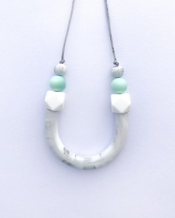 mint silicone necklace new mum gift