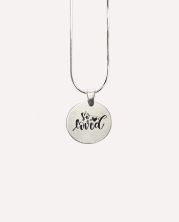 so loved silver quote pendant necklace charm