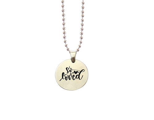 so loved sterling silver necklace charm