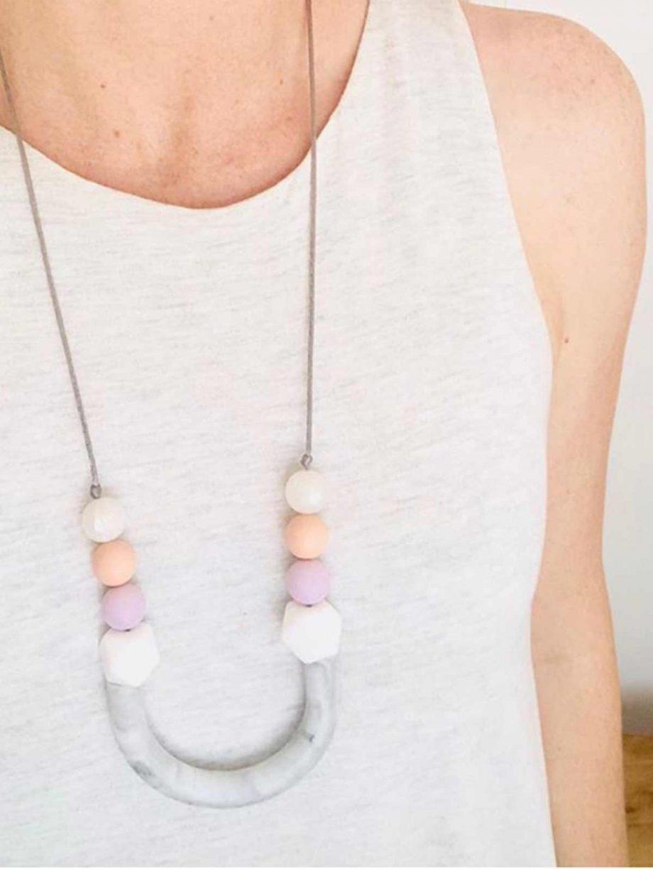 silicone necklace tube new mum