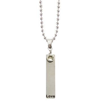 love light stainless steel charm pendant necklace