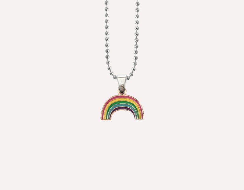 rainbow baby charm pendant silver enamel pregnancy 1