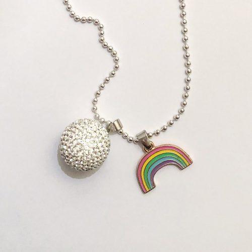 rainbow baby charm silver