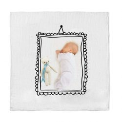picture perfect frame swaddle newborn milestone blanket 2