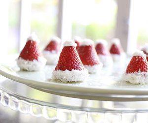 gestational diabetes recipe Christmas Santa Strawberry Hats