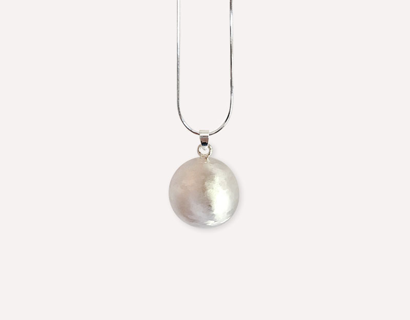 brushed silver bola jewellery harmony ball