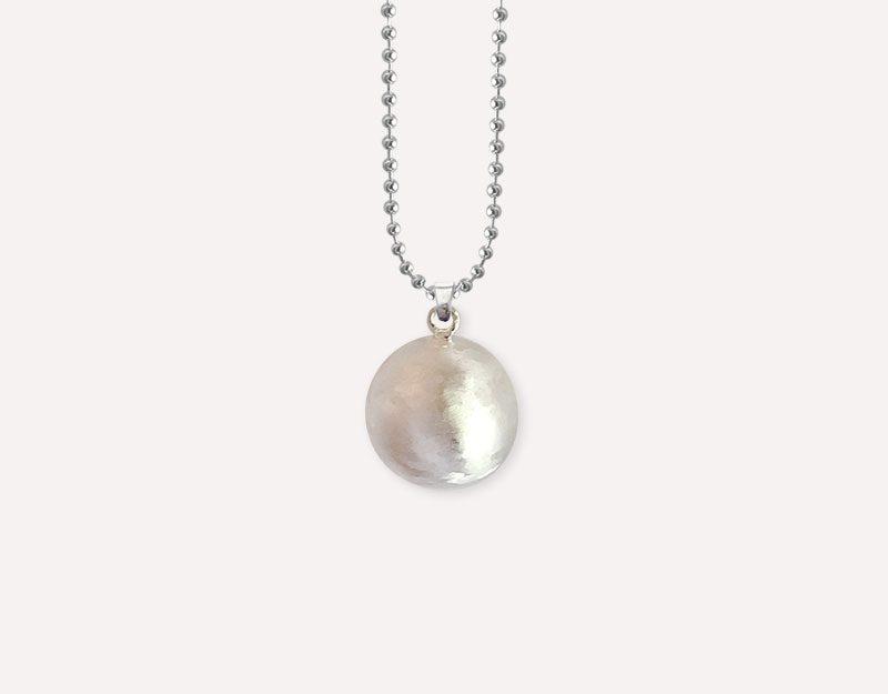 brushed silver metal jewellery harmony ball 1