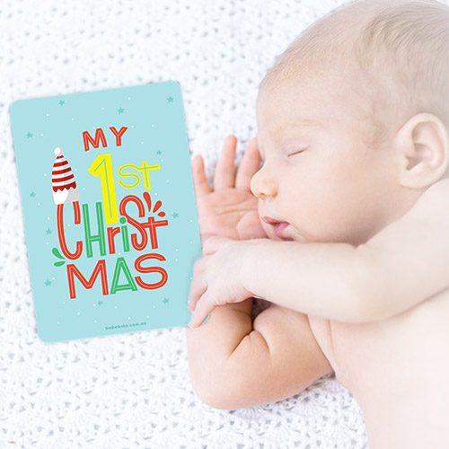 free baby milestone card printable christmas xmas 1