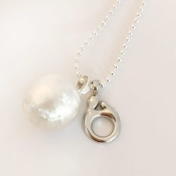 mother and baby silver charm necklace jewellery australia