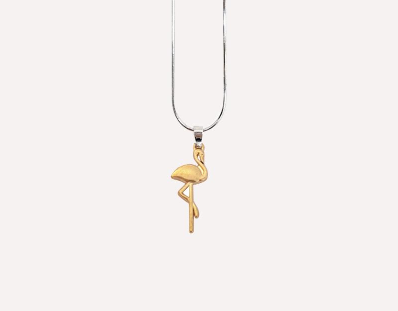 stork gold charm pregnancy necklace
