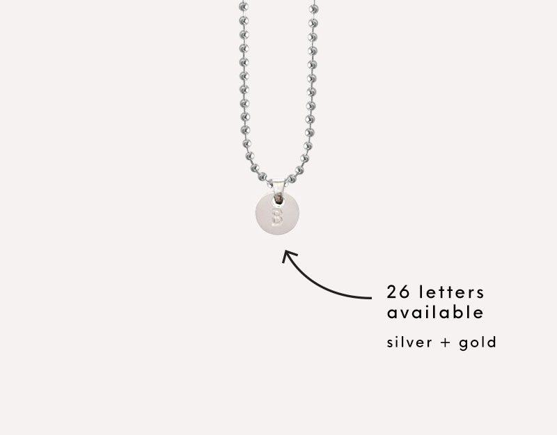 Alphabet Letters Charm necklace pendant