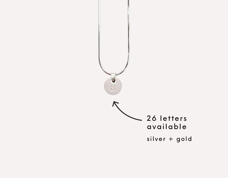 alphabet letters charms personalise necklace pendant 1