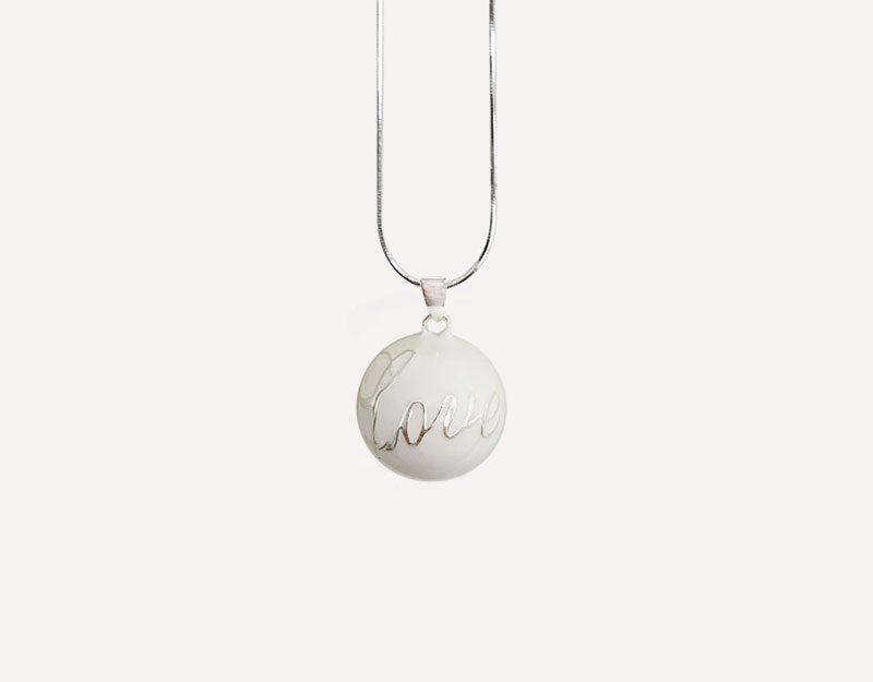 pure love white bola harmony ball chime pendant 2