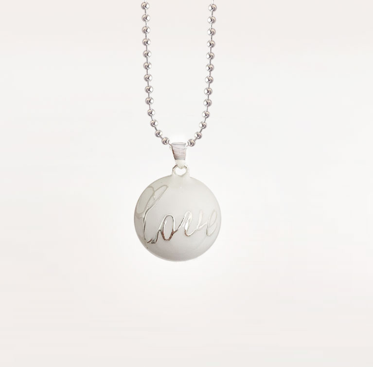 pure love white bola harmony ball chime pendant