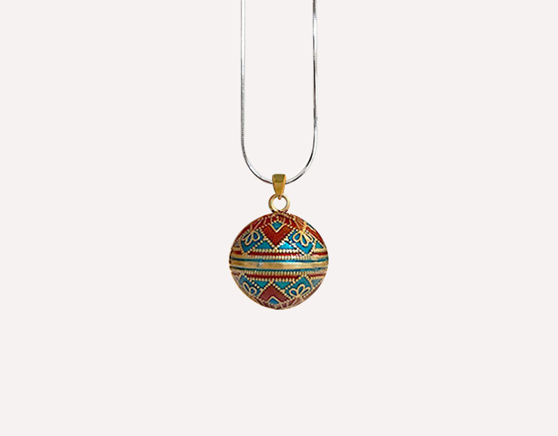 bell gold harmony ball colourful bola pendant