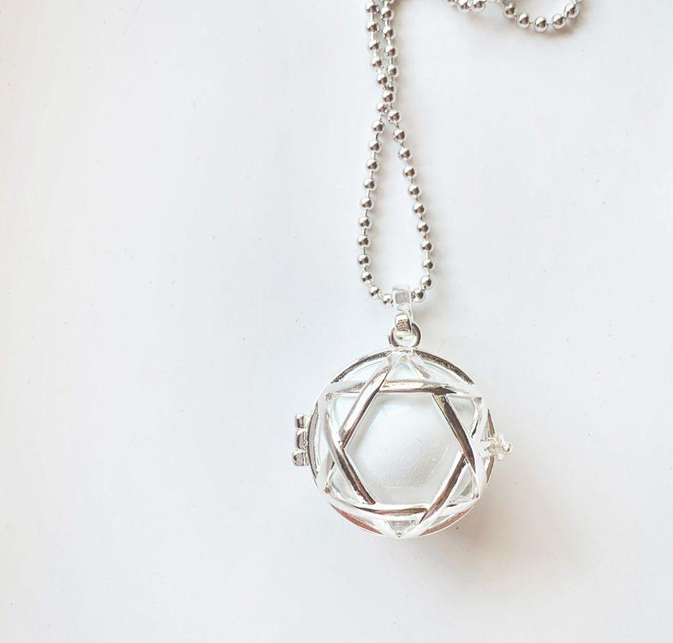 Star harmony ball silver locket chime pregnancy